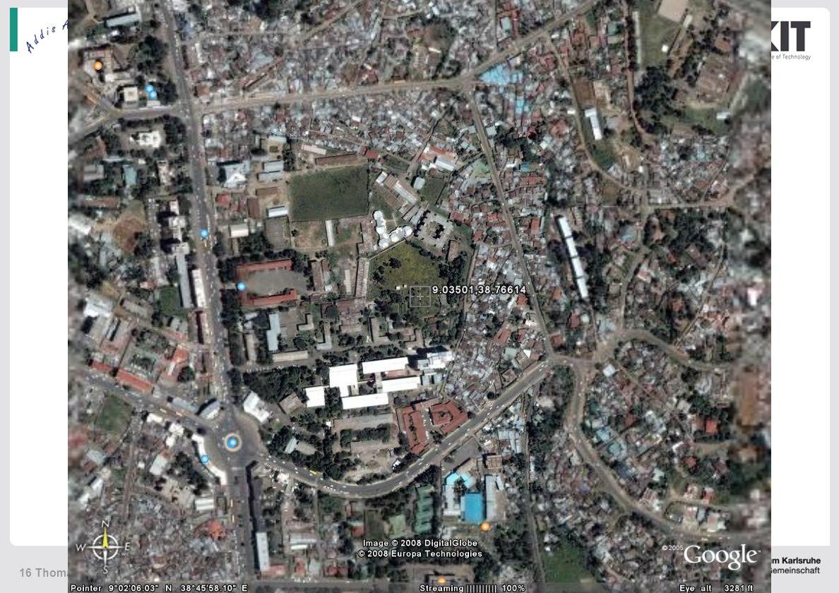 KIT – die Kooperation von Forschungszentrum Karlsruhe GmbH und Universität Karlsruhe (TH) 16 Thomas Blumenstock, NDACC-IRWG, May 12 – 14, 2008 Addis Abeba Addis Ababa site report