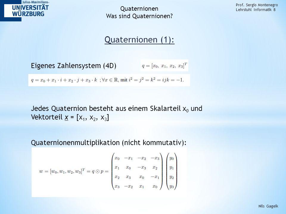 Quaternionen (1): Prof.