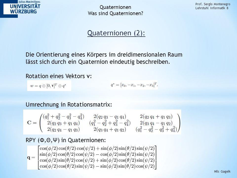 Quaternionen (2): Prof.