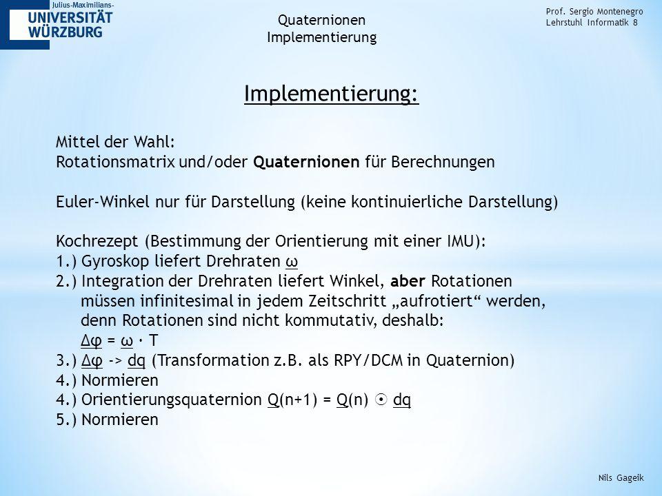 Implementierung: Prof.