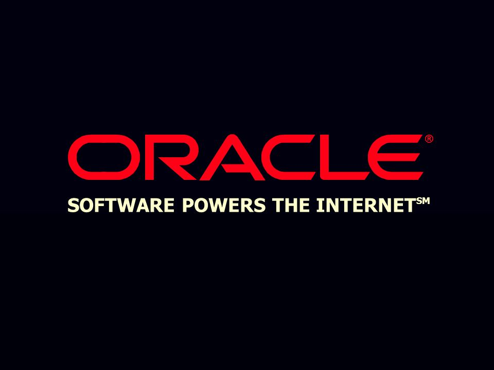 Oracle9i Application Server www.oracle.com Oracle Technology Network technet.oracle.com Oracle Certified Professional technet.oracle.com/training Oracle Support Services technet.oracle.com/support Oracle9i Application Server www.oracle.com Oracle Technology Network technet.oracle.com Oracle Certified Professional technet.oracle.com/training Oracle Support Services technet.oracle.com/support