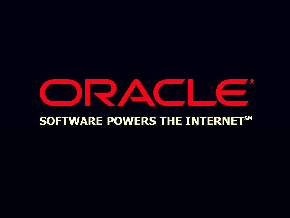 Einfache Entwicklung und einfaches Deployment von Applikationen für mobile Endgeräte  Ein Portal für jeden Content und jedes Device  Ein Portal für Wireless Messaging, Web Browsing und E-Commerce  Portale können von den Anwendern personalisiert werden Oracle9i Wireless Edition