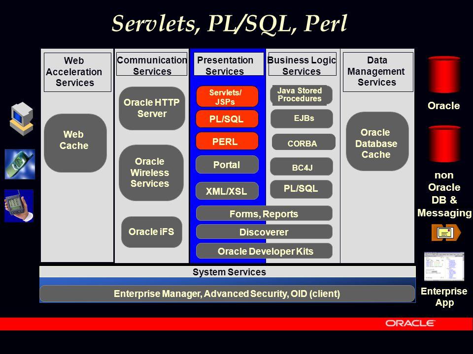 HTTPS mod_plsql Funktion: HTTP Server Plug-in, welches Anfragen für stateless PL/SQL und Java Stored Procedures weiterleitet.