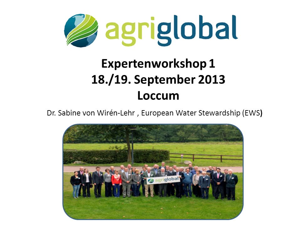 Expertenworkshop 1 18./19.September 2013 Loccum Dr.