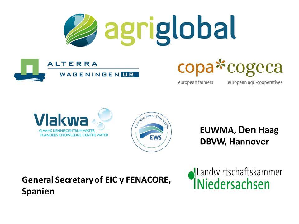 General Secretary of EIC y FENACORE, Spanien EUWMA, Den Haag DBVW, Hannover
