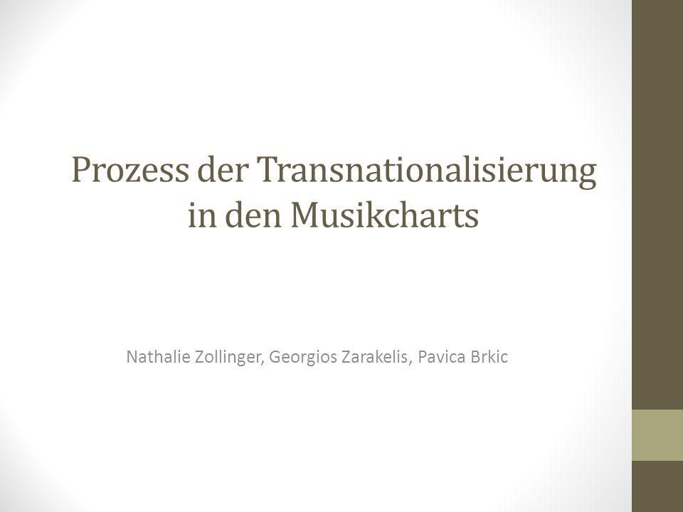 Prozess der Transnationalisierung in den Musikcharts Nathalie Zollinger, Georgios Zarakelis, Pavica Brkic