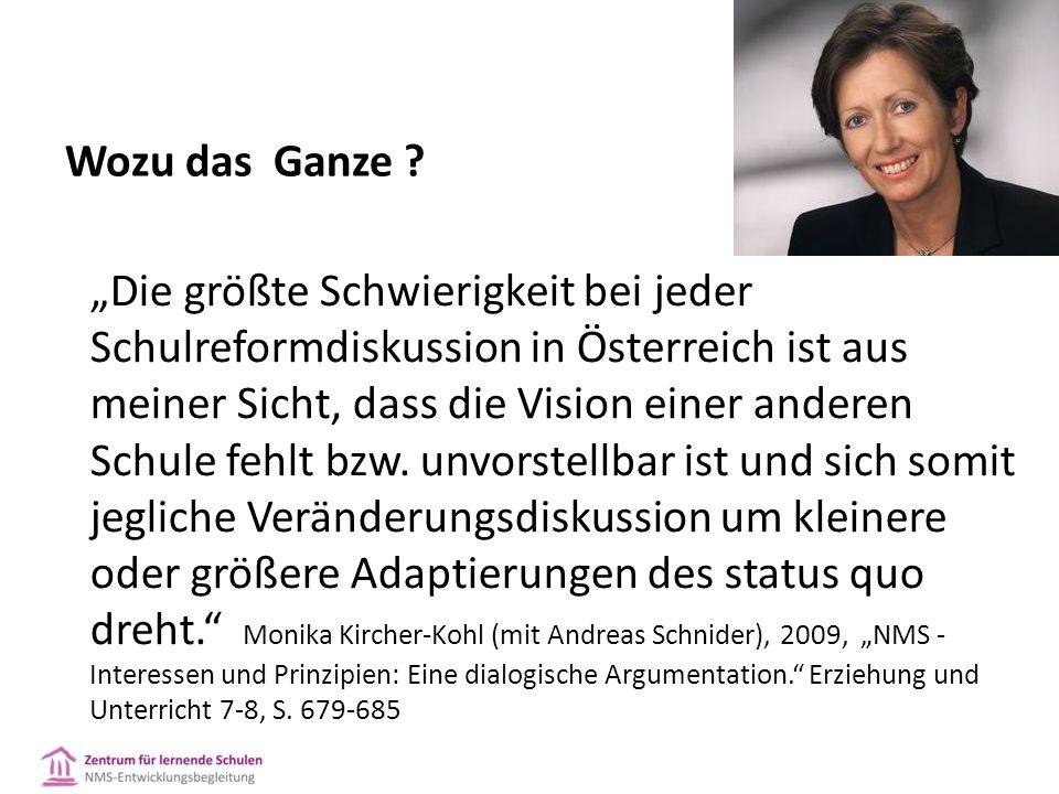 """""""Die größte Schwierigkeit bei jeder Schulreformdiskussion in Österreich ist aus meiner Sicht, dass die Vision einer anderen Schule fehlt bzw."""