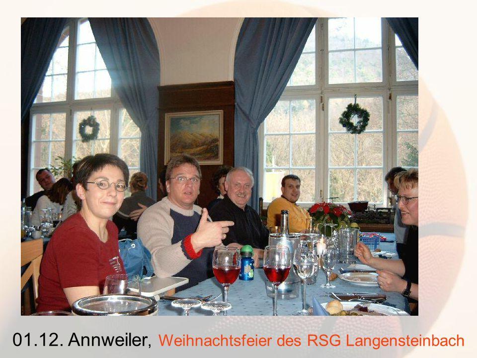 01.12. Annweiler, Weihnachtsfeier des RSG Langensteinbach