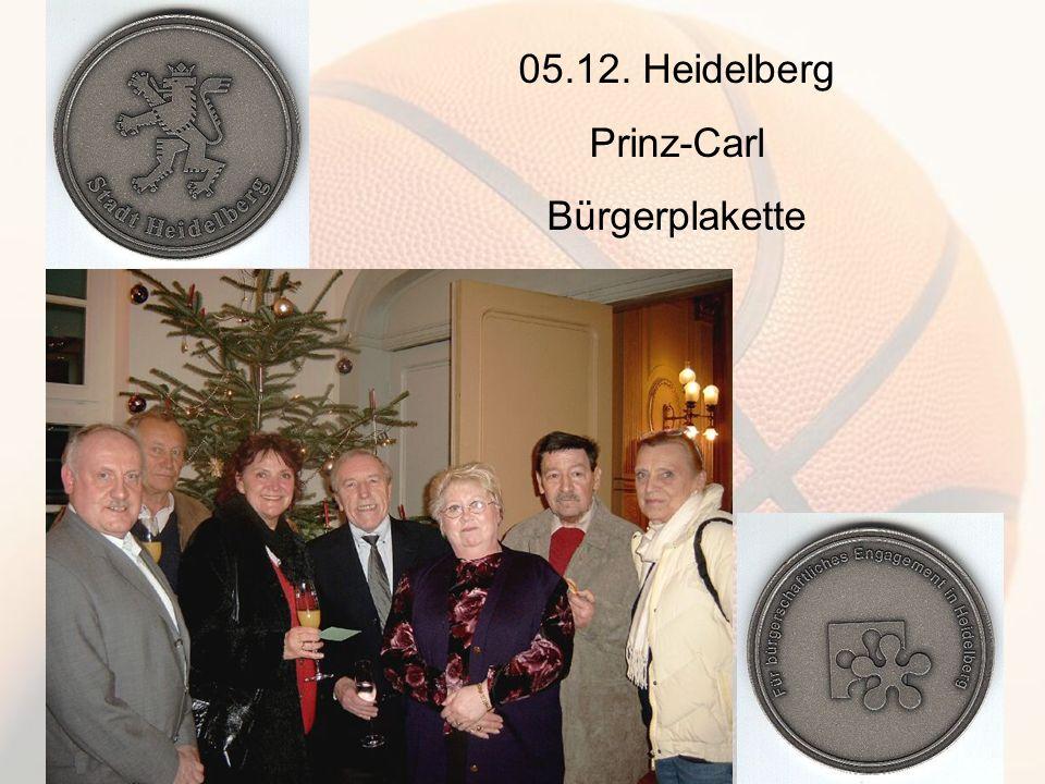 05.12. Heidelberg Prinz-Carl Bürgerplakette