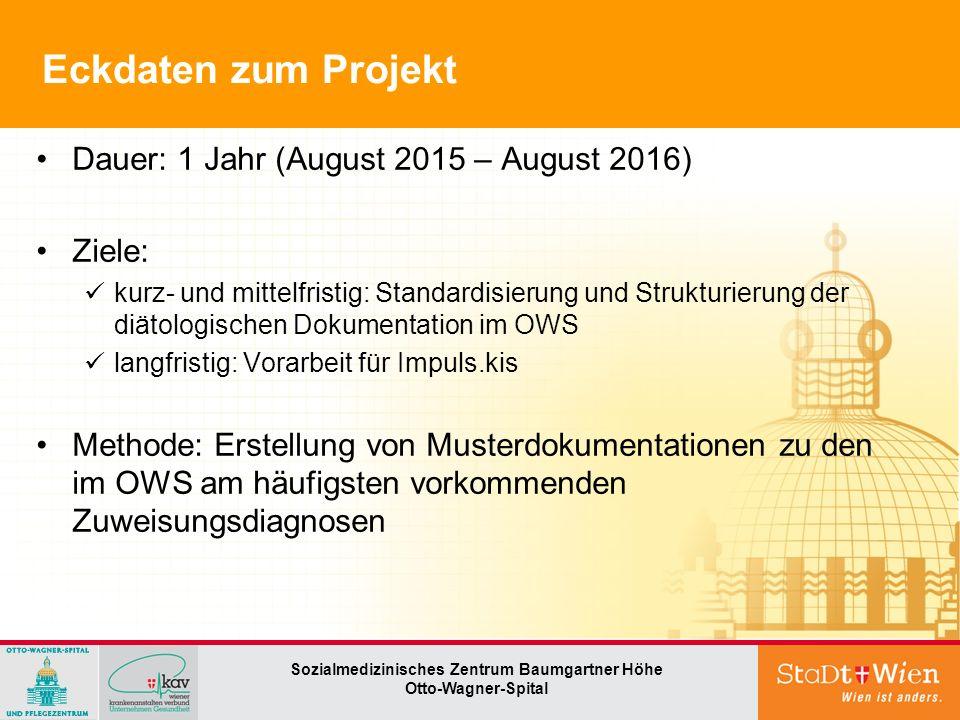 → Diätologischer Prozess Seite 4 Sozialmedizinisches Zentrum Baumgartner Höhe Otto-Wagner-Spital Kriterien für die Dokumentation?