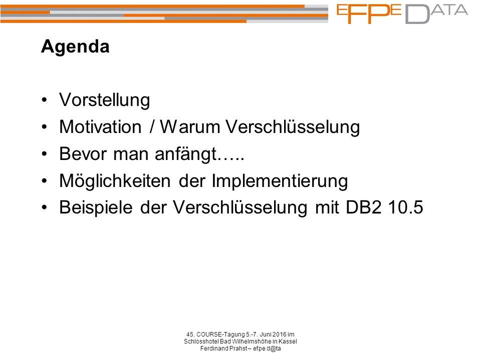 Agenda 45.COURSE-Tagung 5.-7.