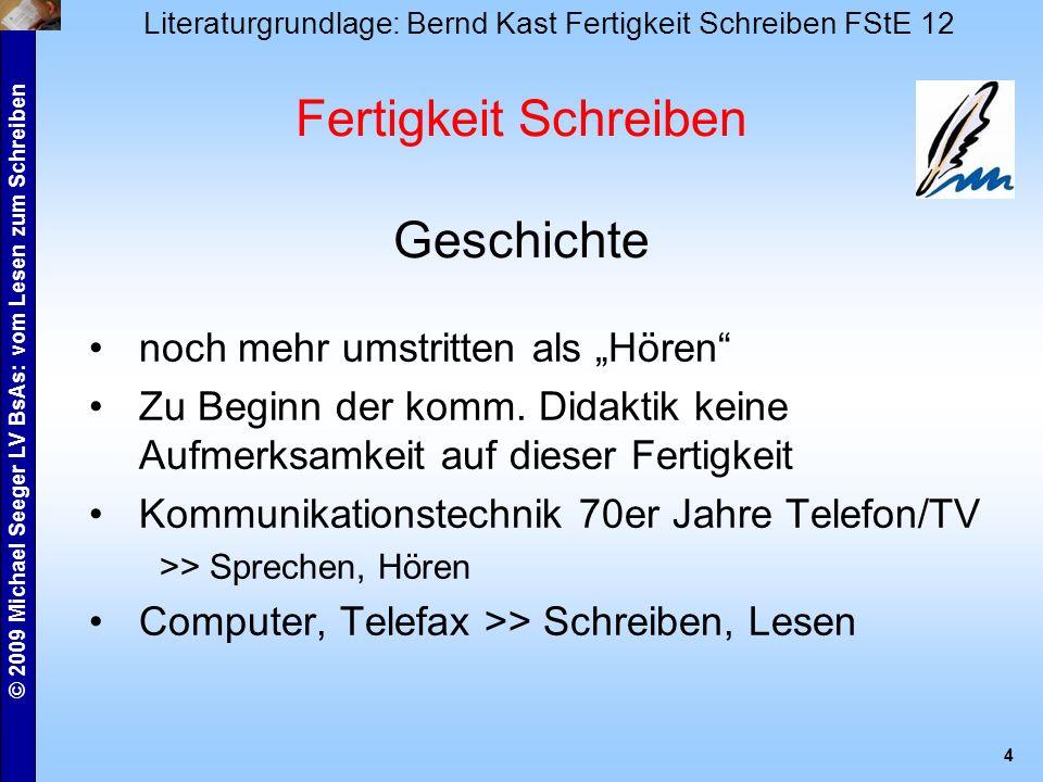 © 2009 Michael Seeger LV BsAs: vom Lesen zum Schreiben 5 Begriffe vgl.