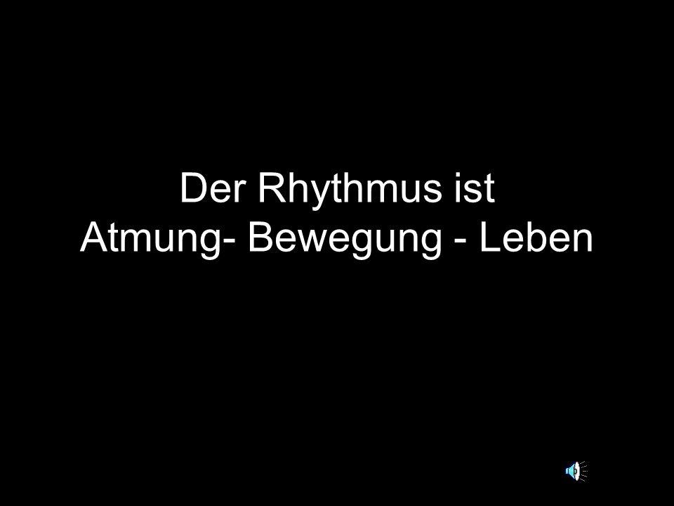 Der Rhythmus ist Atmung- Bewegung - Leben