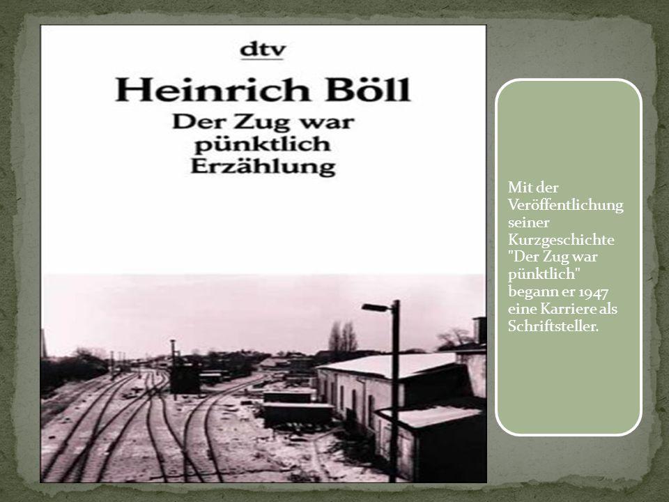 Mit der Veröffentlichung seiner Kurzgeschichte