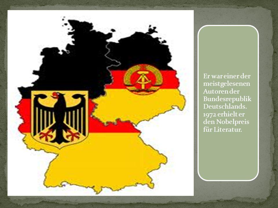 Er war einer der meistgelesenen Autoren der Bundesrepublik Deutschlands.