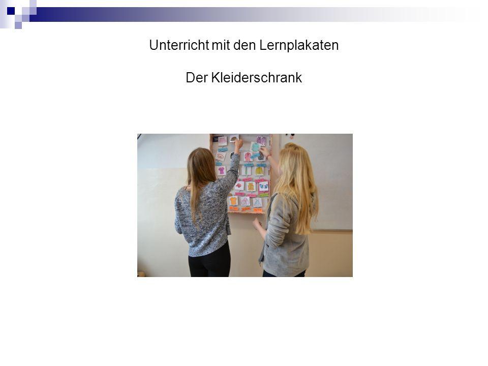 Unterricht mit den Lernplakaten Der Kleiderschrank