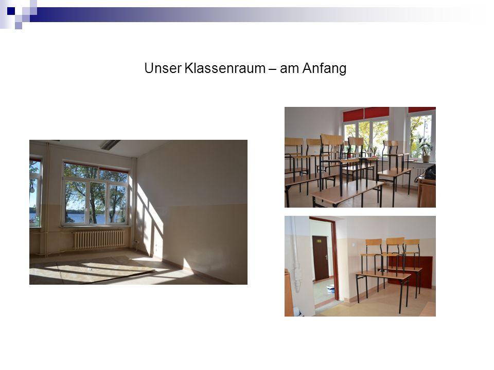Unser Klassenraum – am Anfang