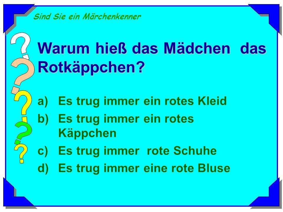 Sind Sie ein Märchenkenner Wie heißen die sieben Zwerge in Schneewitchen? a)Peter, Hans, Kurt, Paul, Josef,Franz, Karl b)Peter, Michel, Kurt, Paul, Jo