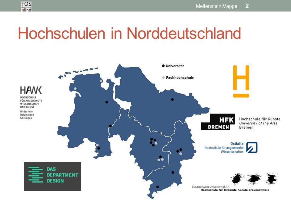 Hochschulen in Norddeutschland Meilenstein Mappe 2