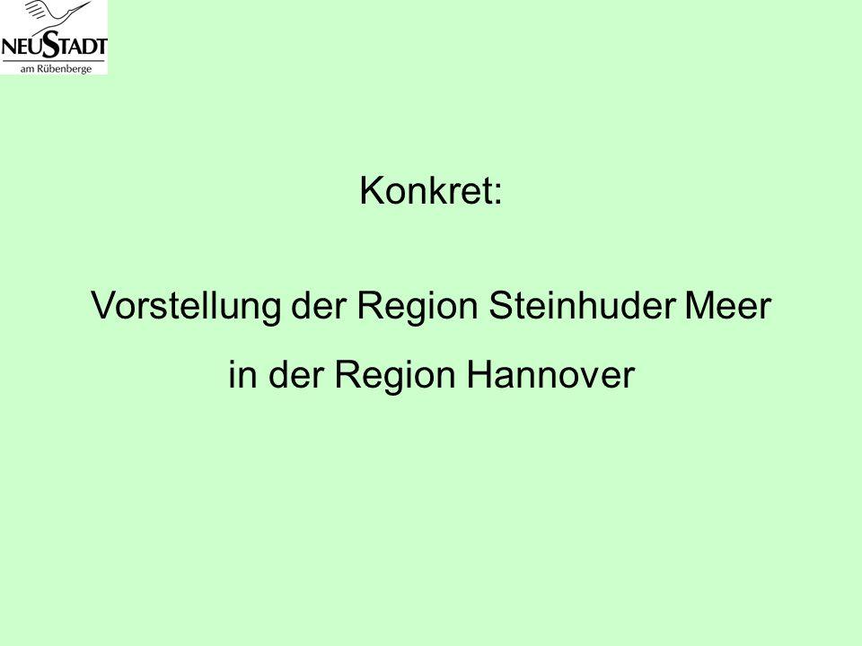 Konkret: Vorstellung der Region Steinhuder Meer in der Region Hannover