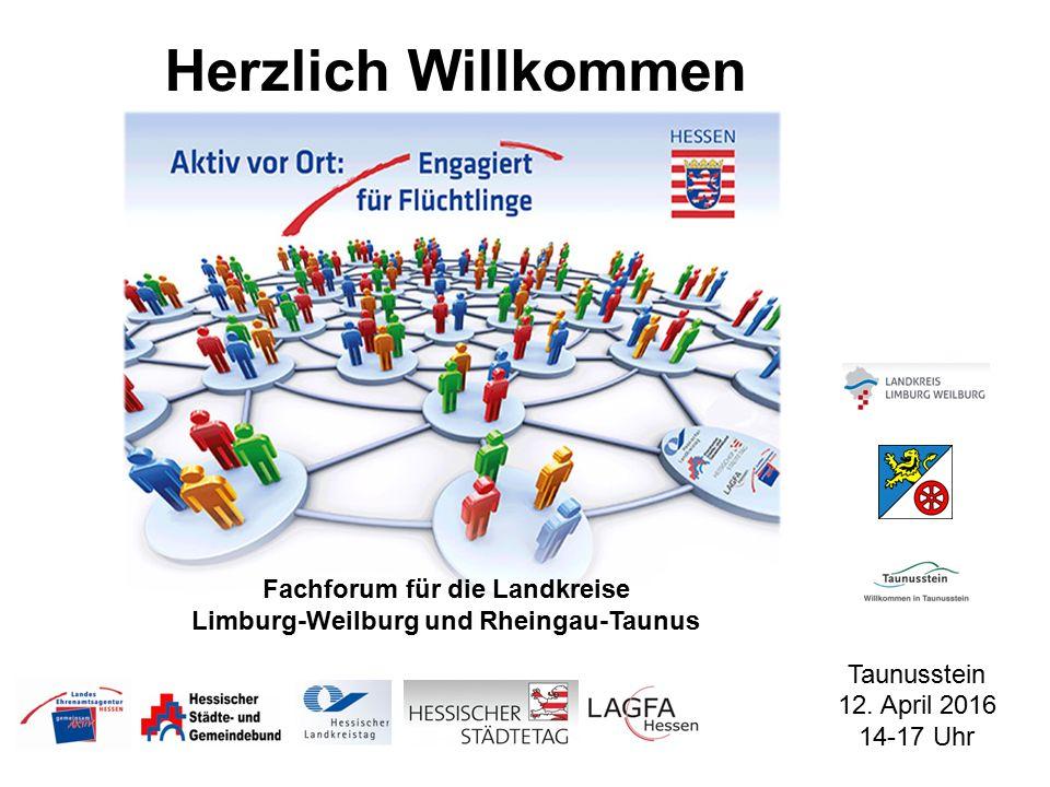 Herzlich Willkommen Fachforum für die Landkreise Limburg-Weilburg und Rheingau-Taunus Taunusstein 12.