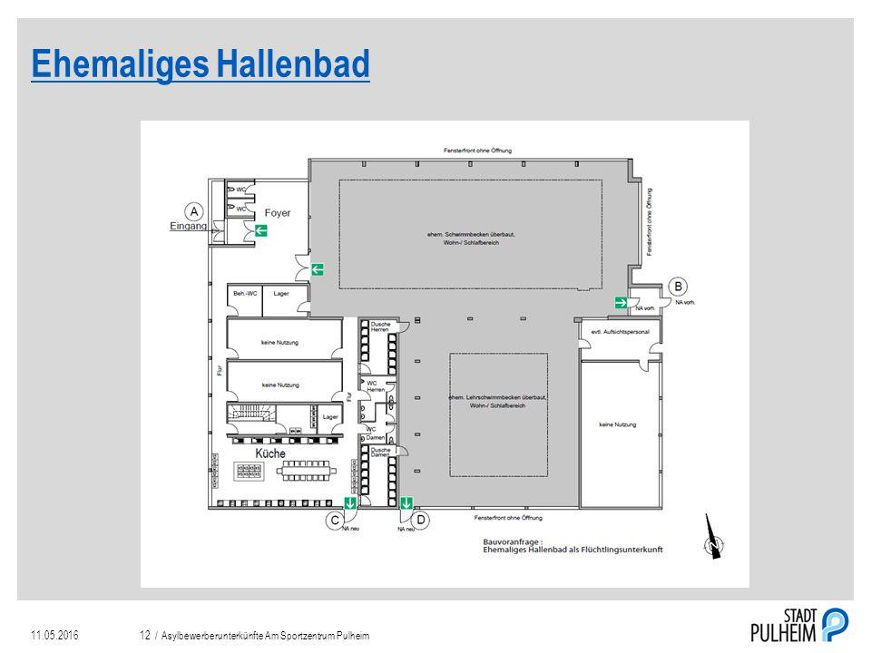 Ehemaliges Hallenbad 11.05.2016Asylbewerberunterkünfte Am Sportzentrum Pulheim12 /