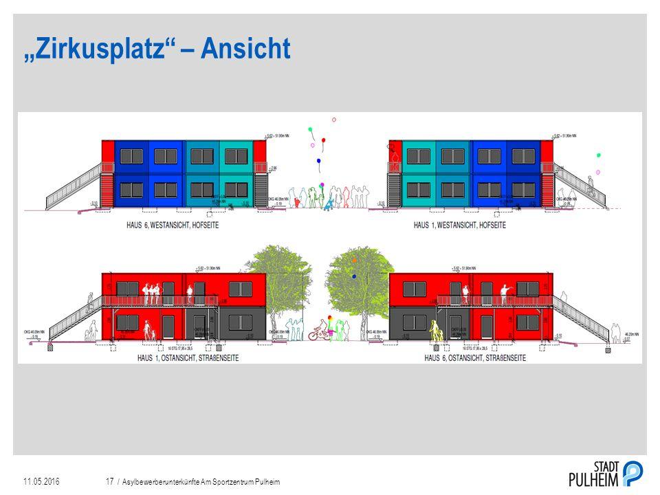 """""""Zirkusplatz – Ansicht 11.05.2016Asylbewerberunterkünfte Am Sportzentrum Pulheim17 /"""