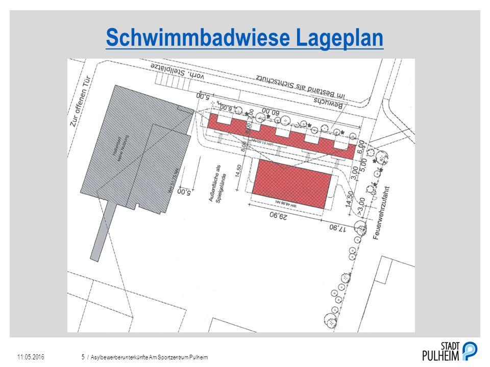 Schwimmbadwiese Lageplan 11.05.2016Asylbewerberunterkünfte Am Sportzentrum Pulheim5 /