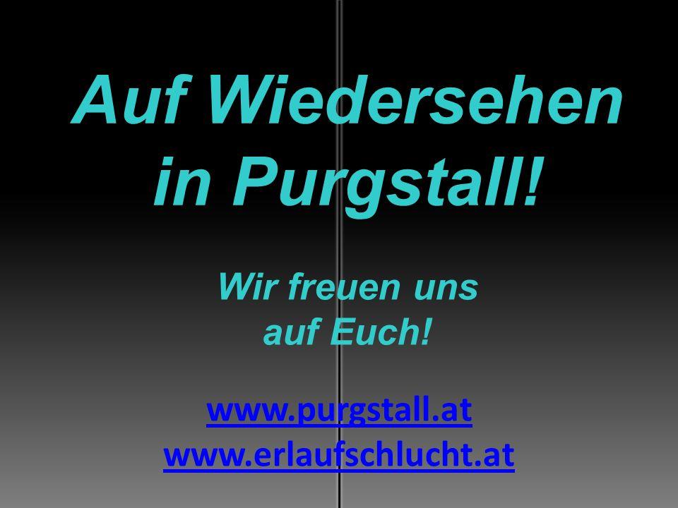 Auf Wiedersehen in Purgstall! Wir freuen uns auf Euch! www.purgstall.at www.erlaufschlucht.at