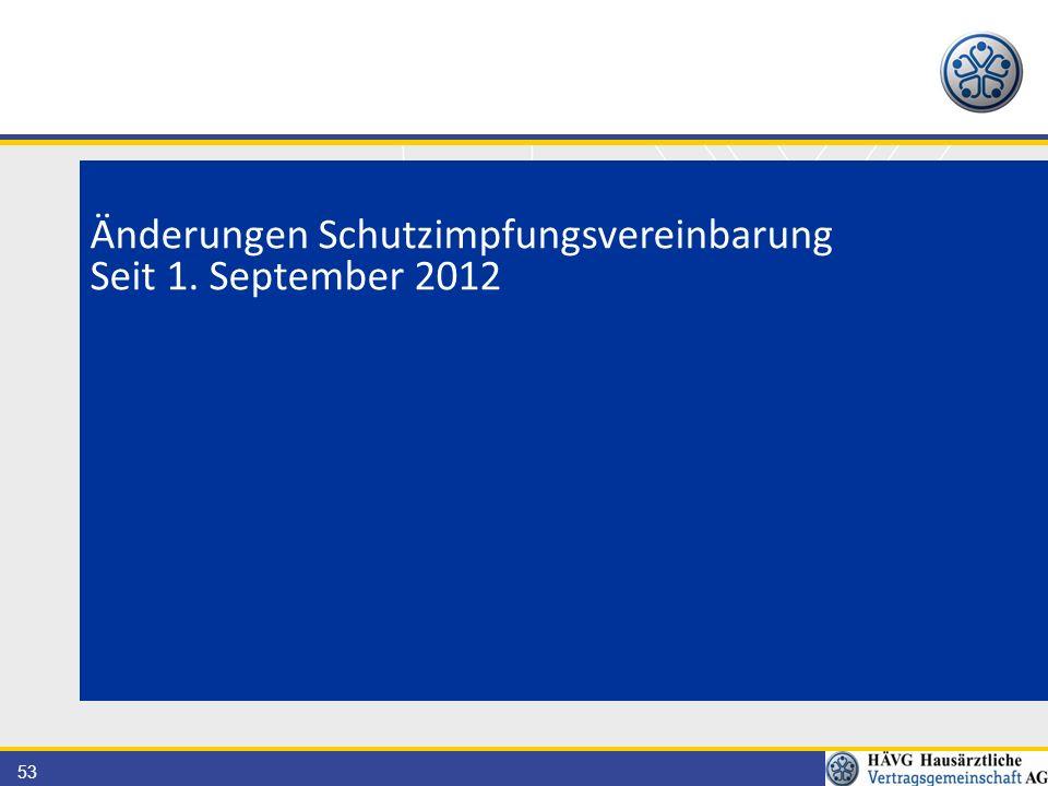 53 Änderungen Schutzimpfungsvereinbarung Seit 1. September 2012