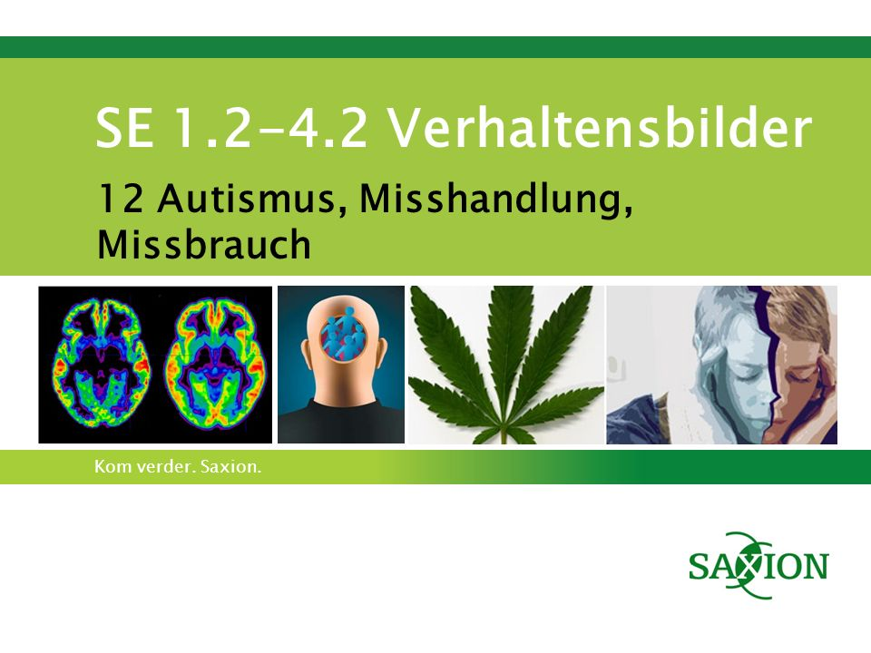 Kom verder. Saxion. SE 1.2-4.2 Verhaltensbilder 12 Autismus, Misshandlung, Missbrauch