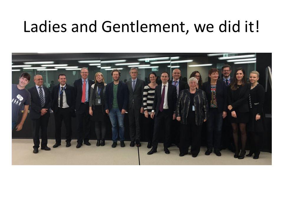 Ladies and Gentlement, we did it!