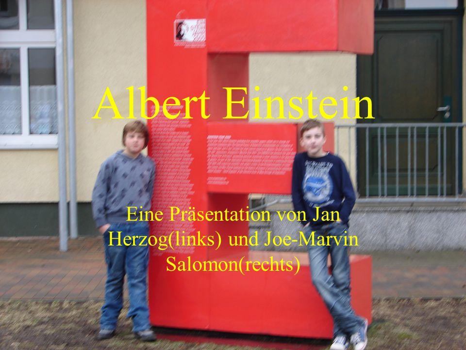 Albert Einstein Eine Präsentation von Jan Herzog(links) und Joe-Marvin Salomon(rechts)