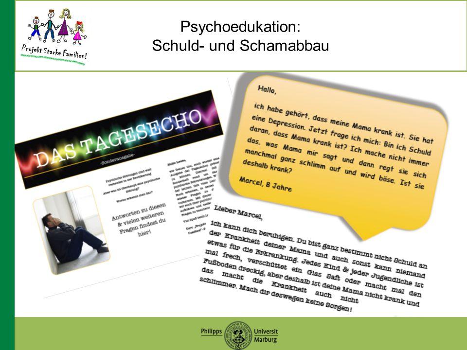 Psychoedukation: Schuld- und Schamabbau