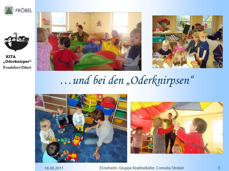 """KITA """"Oderknirpse"""" Frankfurt (Oder) 16.06.2011 Erzieherin, Gruppe Krabbelkäfer, Cornelia Strobel5 …und bei den """"Oderknirpsen"""""""