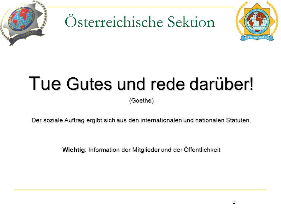 Österreichische Sektion Tue Gutes und rede darüber.