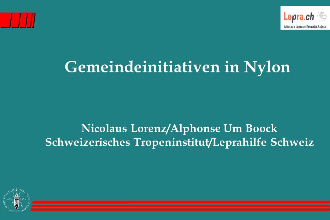 Gemeindeinitiativen in Nylon Nicolaus Lorenz/Alphonse Um Boock Schweizerisches Tropeninstitut/Leprahilfe Schweiz