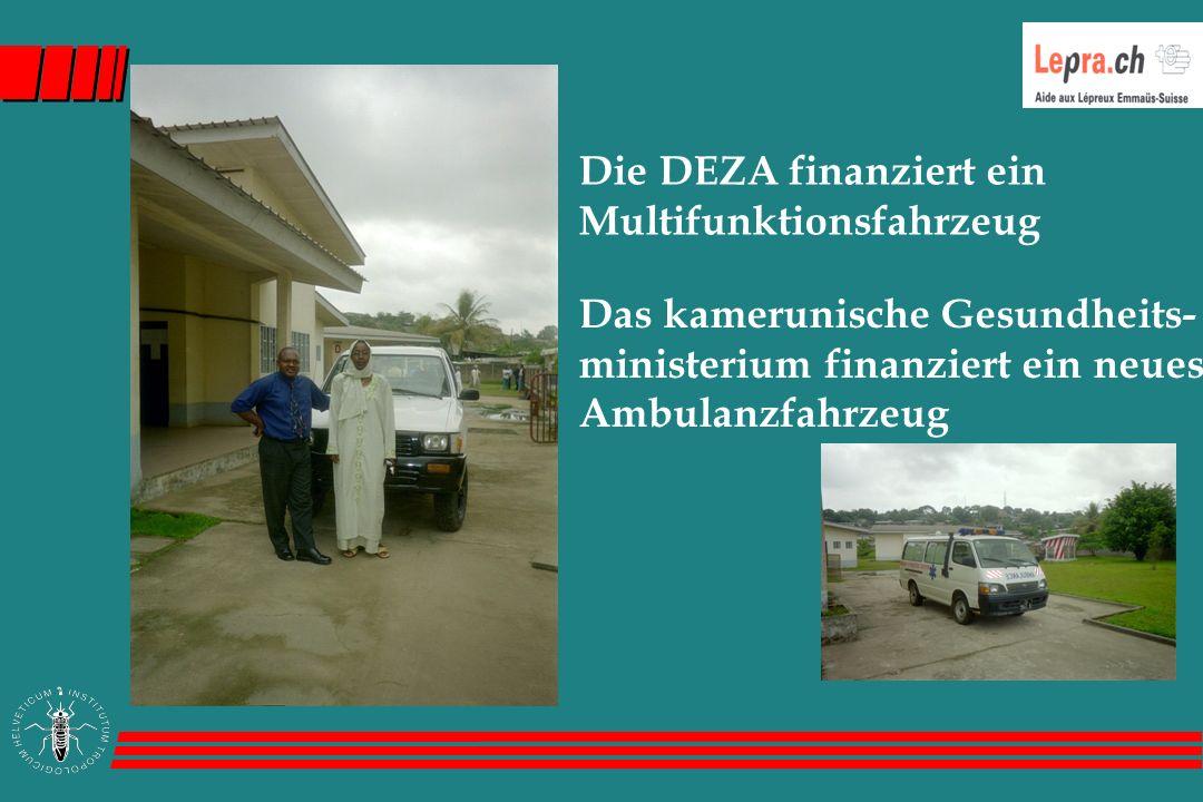 Die DEZA finanziert ein Multifunktionsfahrzeug Das kamerunische Gesundheits- ministerium finanziert ein neues Ambulanzfahrzeug