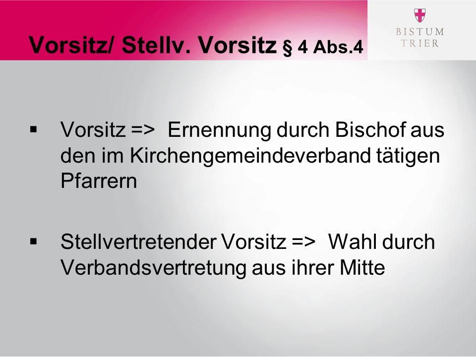 Vorsitz/ Stellv.