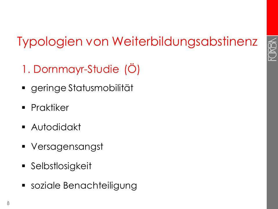 8 Typologien von Weiterbildungsabstinenz 1.