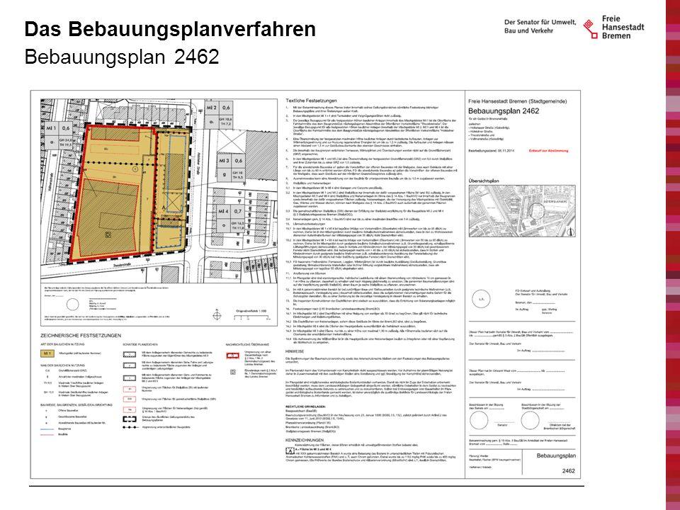 Bebauungsplan 2462 Das Bebauungsplanverfahren