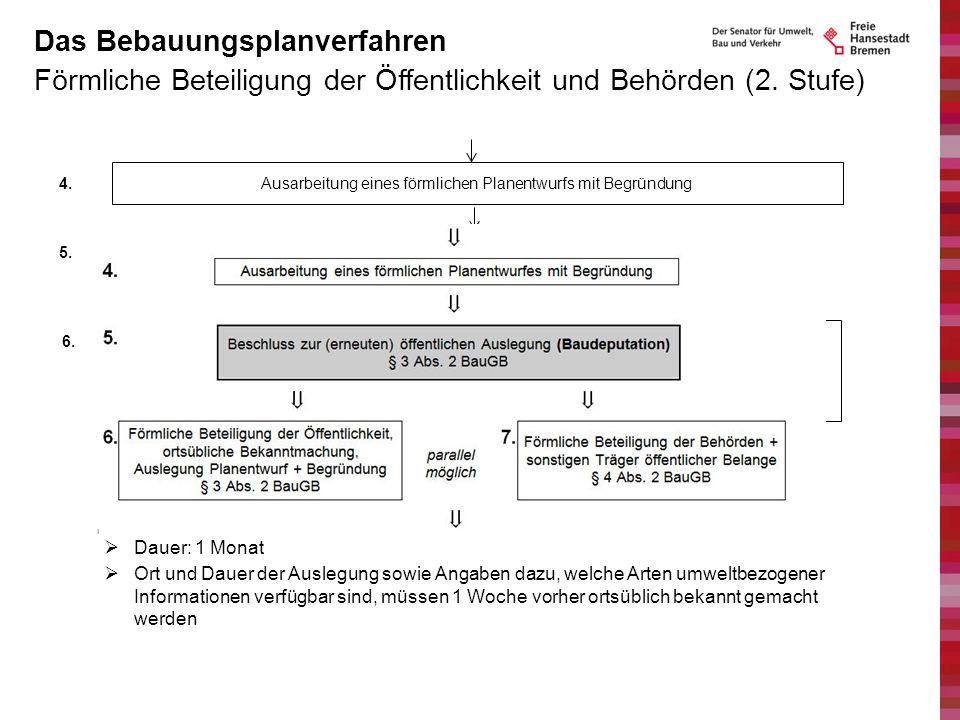 Förmliche Beteiligung der Öffentlichkeit und Behörden (2. Stufe) Das Bebauungsplanverfahren 8.Behandlung der eingegangenen Stellungnahmen durch die Pl