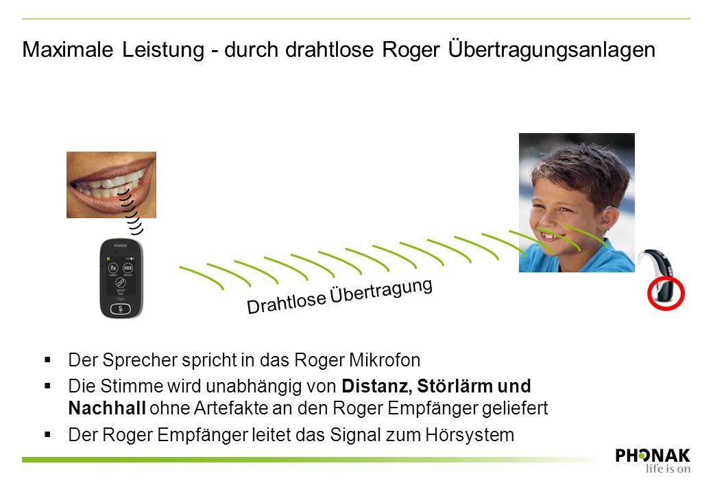 Einfache Lösungen für das moderne Klassenzimmer Praktischer Roger Charging Rack ermöglicht gleichzeitiges Aufladen mehrerer Roger-Geräte Konsequente Statusanzeige für das gesamte Produktportfolio Einfach bedienbarer Multimedia Hub für den Einsatz von audiovisuellen Lehrmaterialien oder für individuelles Hören Leichtes Roger Pass-around Handmikrofon, speziell für kleine Hände geeignet Vielseitiges Roger Touchscreen Mic für verschiedene Lernsituationen – mit intuitiv bedienbarem Touchscreen
