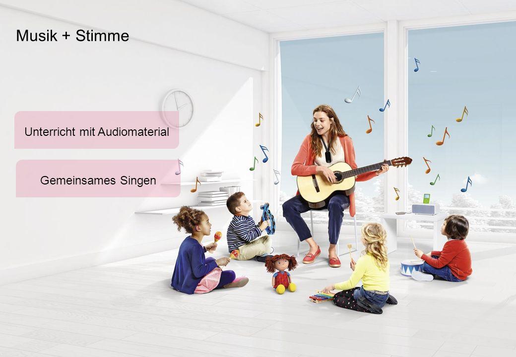 Musik + Stimme Gemeinsames Singen Unterricht mit Audiomaterial