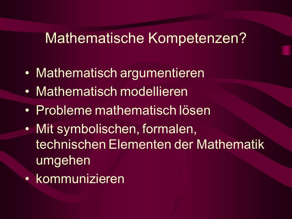 Mathematische Kompetenzen.