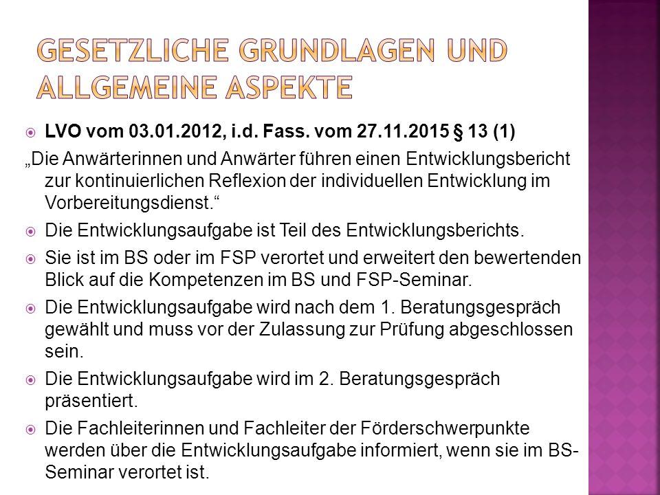  LVO vom 03.01.2012, i.d. Fass.