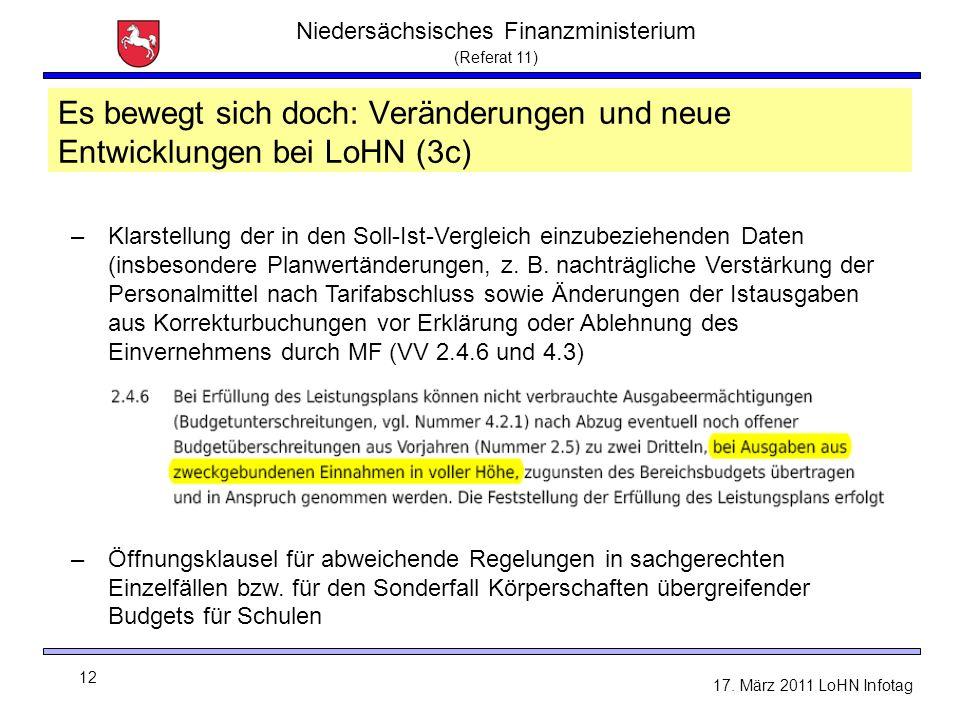 Niedersächsisches Finanzministerium (Referat 11) 12 17.