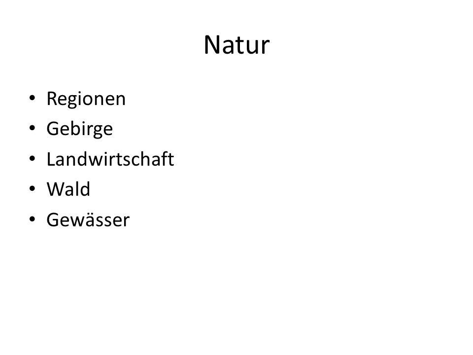 Natur Regionen Gebirge Landwirtschaft Wald Gewässer