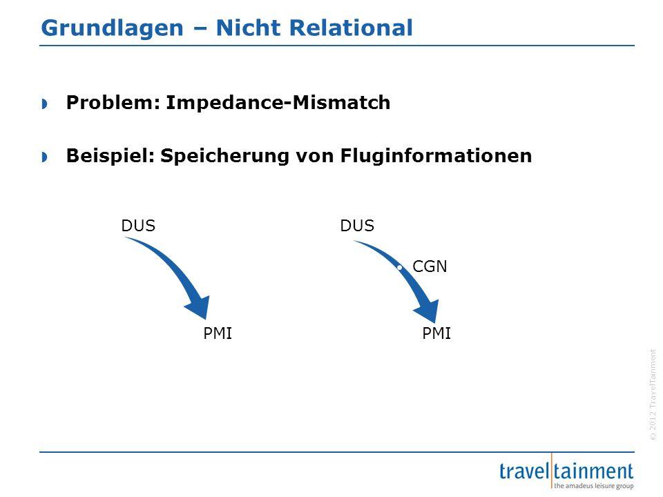 © 2012 TravelTainment Grundlagen – Nicht Relational  Erste Möglichkeit:.…  Unflexibel