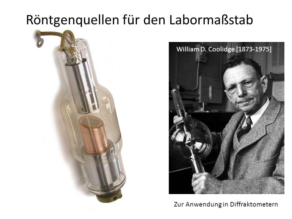 Röntgenquellen für den Labormaßstab Zur Anwendung in Diffraktometern William D.